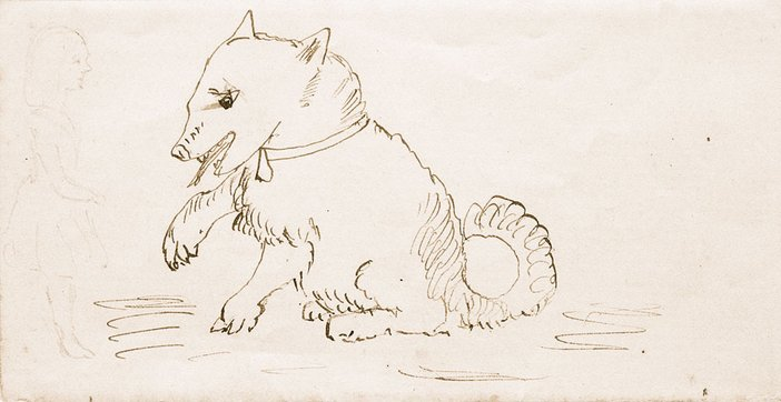The Giant Puppy: Charles Dodgson sketch