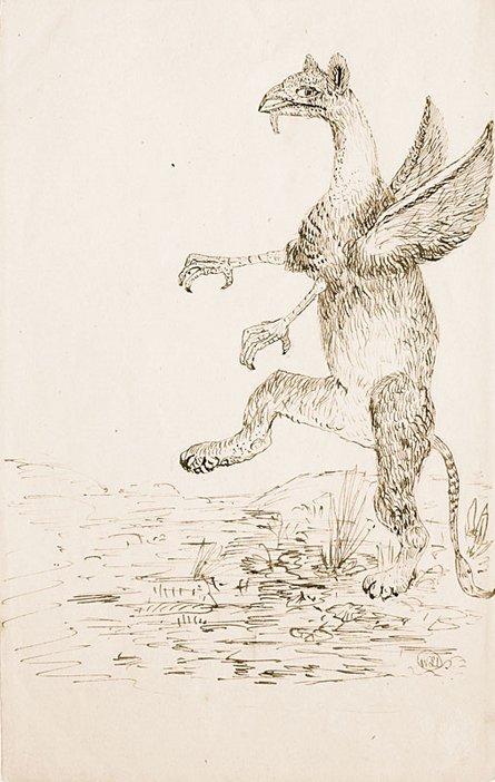 The Gryphon; Charles dodgson sketch
