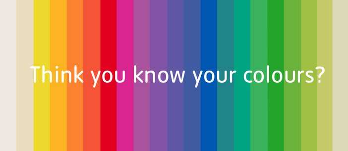 Tate Collection Colour Palette 2014 Think you know your colours?