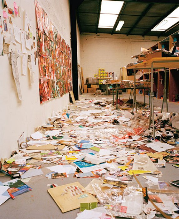 Thomas Hirschhorn The artist's studio in Paris