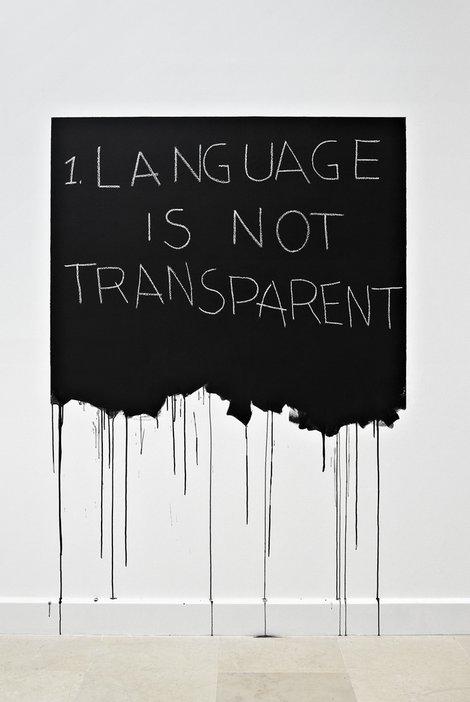 Mel Bochner Language Is Not Transparent 1970