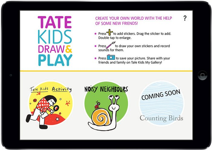 Tate Kids Draw and Play Ipad app