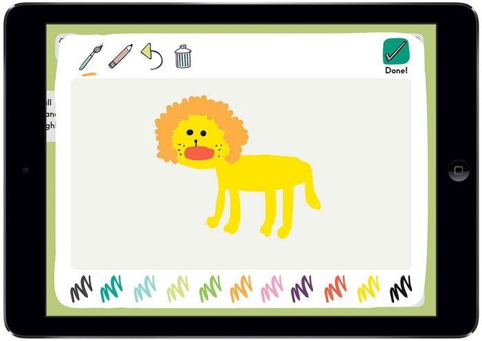 Tate Kids Draw and Play Ipad app drawing