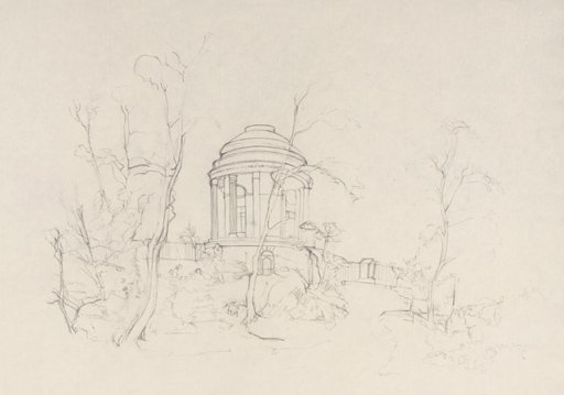 Tom Farthing After Turner The Brocklesby Mausoleum Seen among Trees 1798