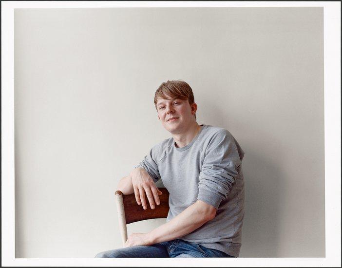 Roger Hiorns in his studio 2009