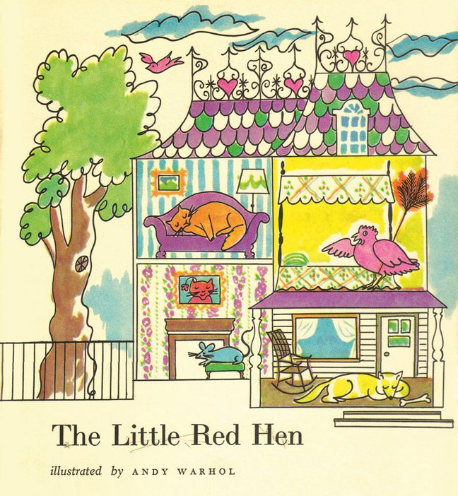Andy Warhol illustration for The Little Red Hen