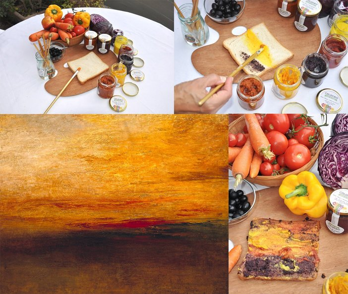 Bice Perrini's food painting of Turner's Sunset