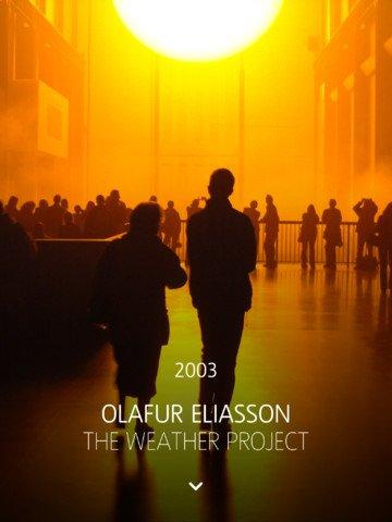 Unilever iPad app - Olafur Eliasson exhibition