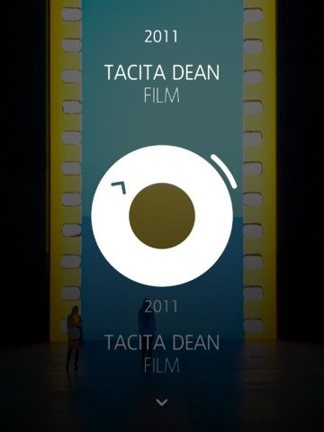 Unilever iPad app - Tacita Dean exhibition