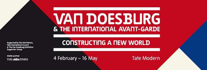 Theo Van Doesburg and the international avant garde exhibition banner