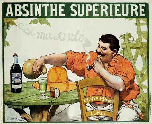 Victor Leydet Poster for Absinthe Superieure circa1900
