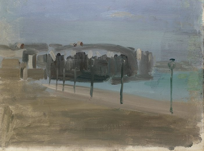 Victor Pasmore Untitled painting of the promenade at Dieppe circa 1933