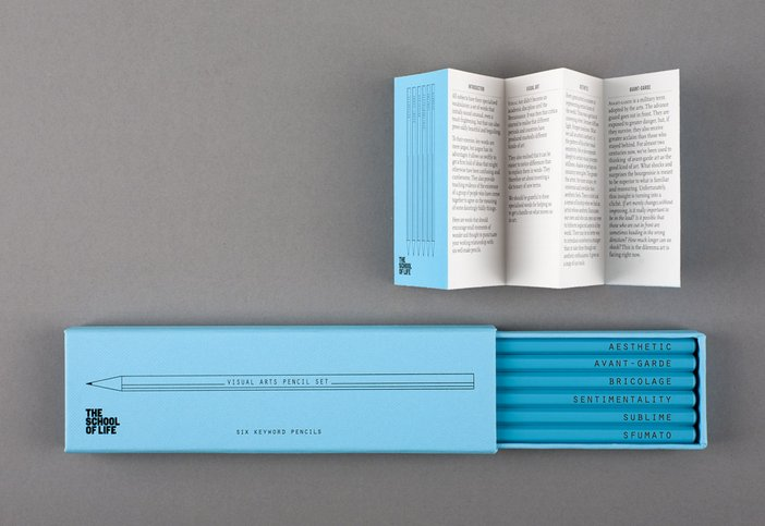 Key Word Pencil Set: The Visual Arts, The School of Life, £12.00