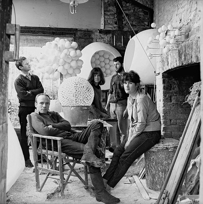 Patrick Caulfield and friends photographed by Peter Ward in 1961
