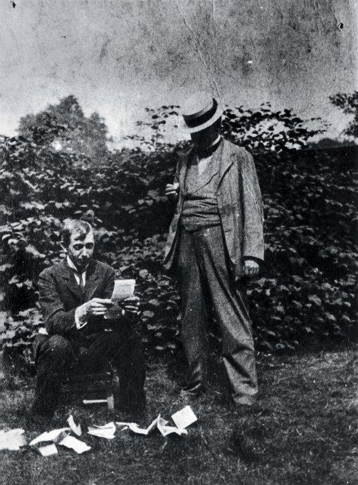 Walter Richard Sickert in the garden of Rowlandson House London 1911
