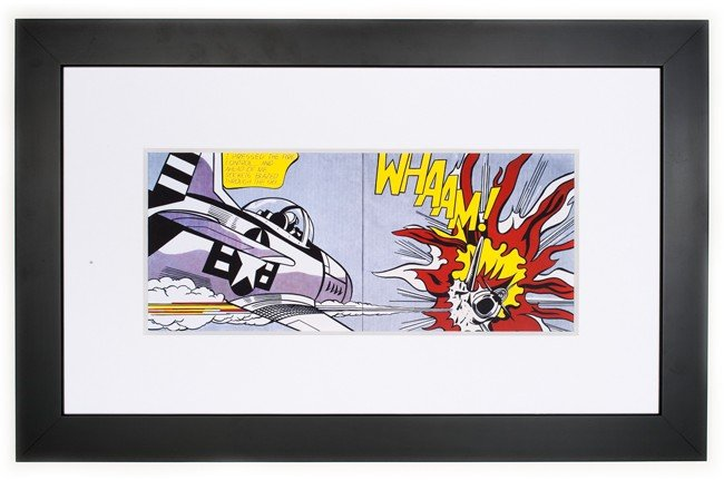 Whaam! by Roy Lichtenstein, framed print image