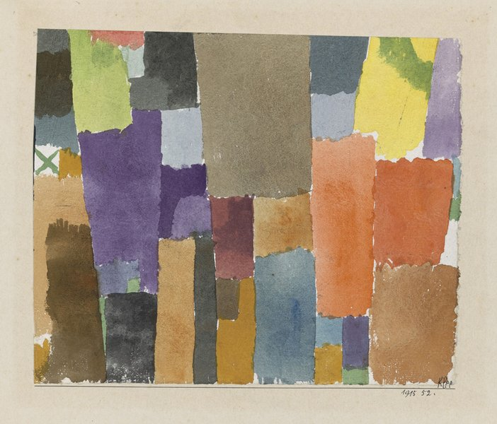 Paul Klee Green X Above Left 1915  Zentrum Paul Klee, Private Collection