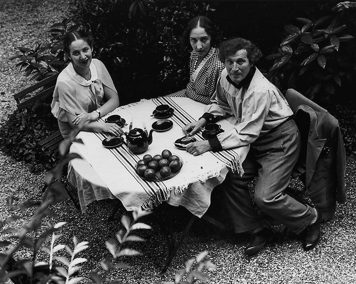 Marc Chagall and family photographed by André Kertész in 1933