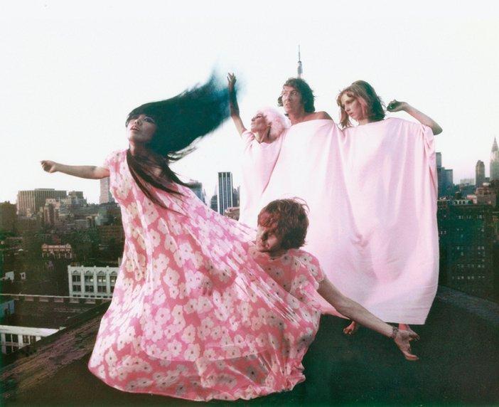 Yayoi Kusama modelling her Kusama Fashions in New York 1968
