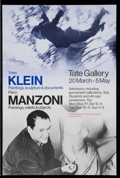 Exhibition leaflet for Two European Artists: Klein and Manzoni 1974