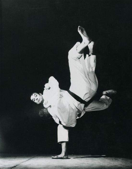 Klein performing a Judo throw