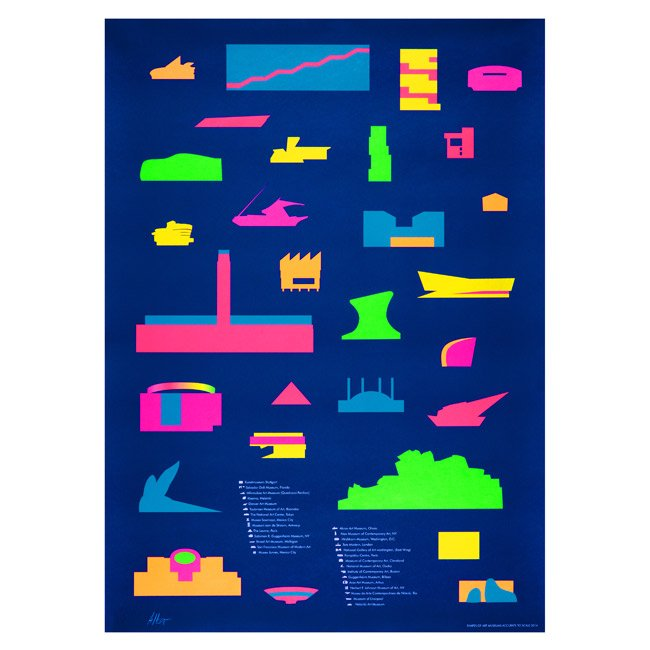 Yoni Alter's Shapes of Museums poster