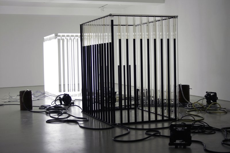 Andrei Molodkin Installation view of 'Liquid Modernity' 2009