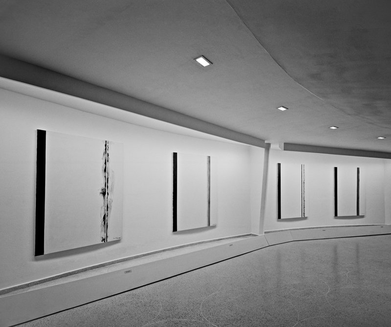 Installation view of Barnett Newman: The Stations of the Cross: Lema Sabachthani