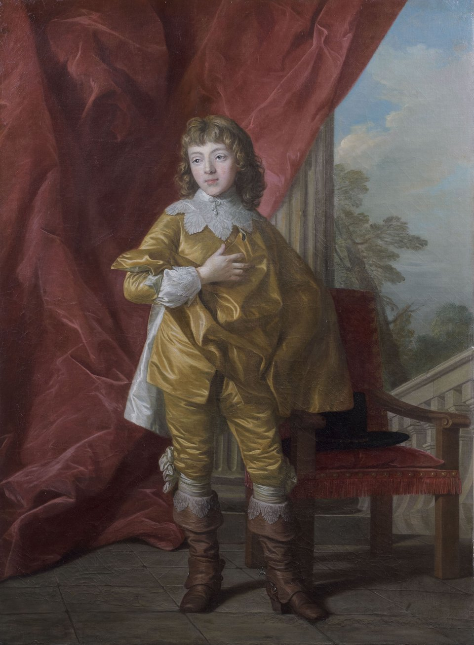 Louis Michel Vanloo Boy Dressed in the Former Fashion of England 1767