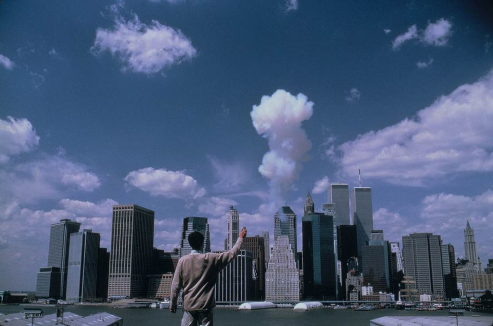 Cai Guo-Qiang The Century with Mushroom Clouds: Project for the Twentieth Century (Manhattan) 1996