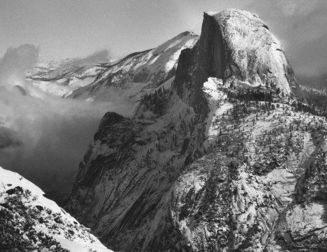 Ansel Adams Half Dome from Glacier Point in Winter c.1940