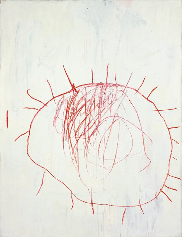 Cy Twombly Coronation of Sesostris 2000, panel 1