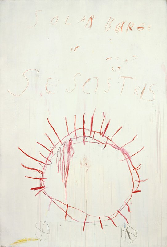 Cy Twombly Coronation of Sesostris 2000, panel 2