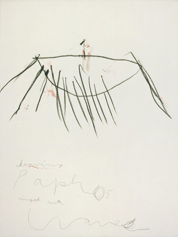 Cy Twombly Coronation of Sesostris 2000, panel 9