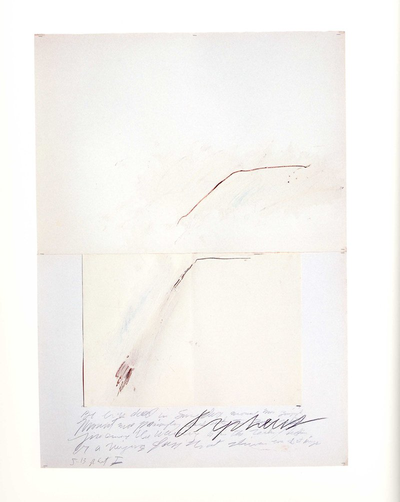 Cy Twombly Orpheus 1975