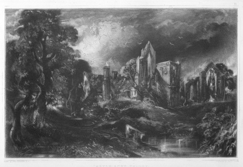 David Lucas after John Constable, Castle Acre Priory c.1832