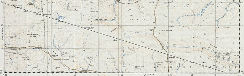 Detail of Ordnance Survey map of Exmoor