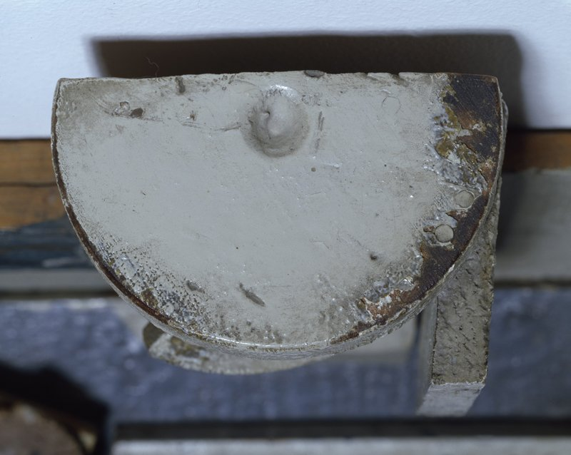Detail of the top of the wine glass in Still Life showing the recycled turned disc