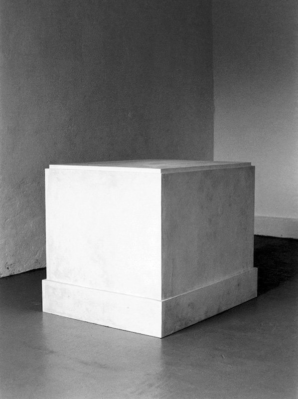 Didier Vermeiren Plaster 1985, Base from the Musée Rodin, Meudon, Supporting Adam, Plaster 1880 1985
