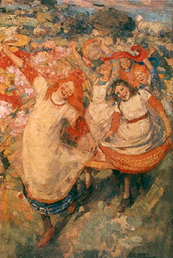 E. A. Hornel, The Dance of Spring 1891