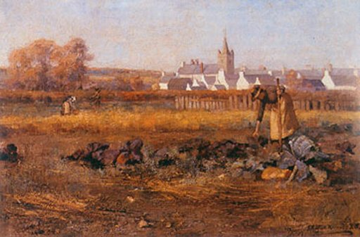 E. A. Hornel In the Town Crofts, Kirkcudbright 1885