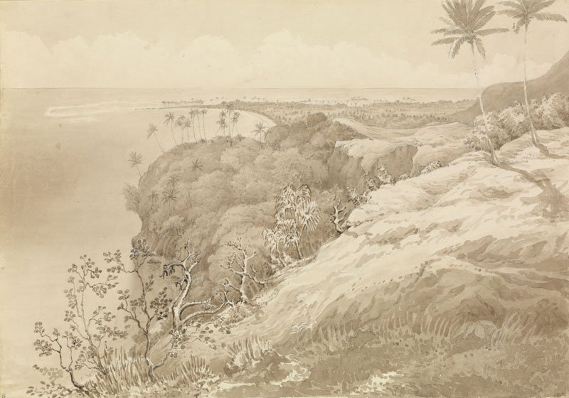 Edward Gennys Fanshawe Matavai Bay and Point Venus, Tahiti 1849