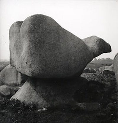 Eileen Agar Photograph of Bum and thumb rock in Ploumanach