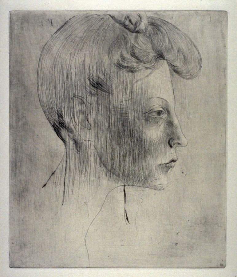 Pablo Picasso Head of a Woman in Profile 1905