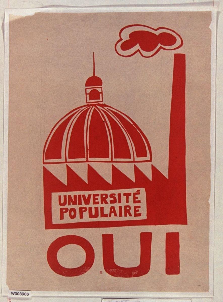 Université populaire oui 1968