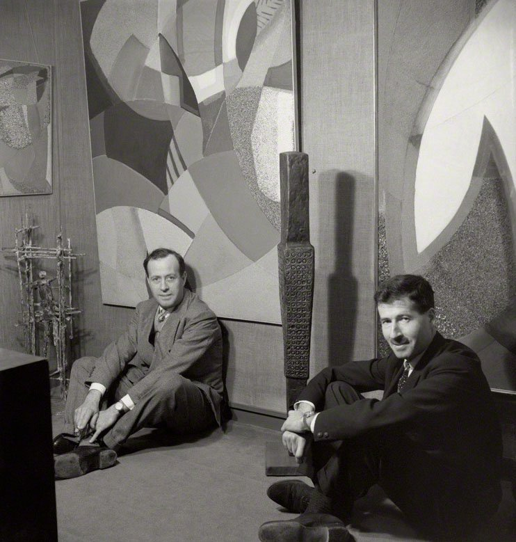 Charles Gimpel and Peter Gimpel 1958