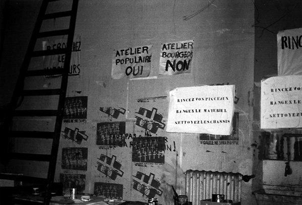 École des beaux-arts: 'Atelier populaire oui!'