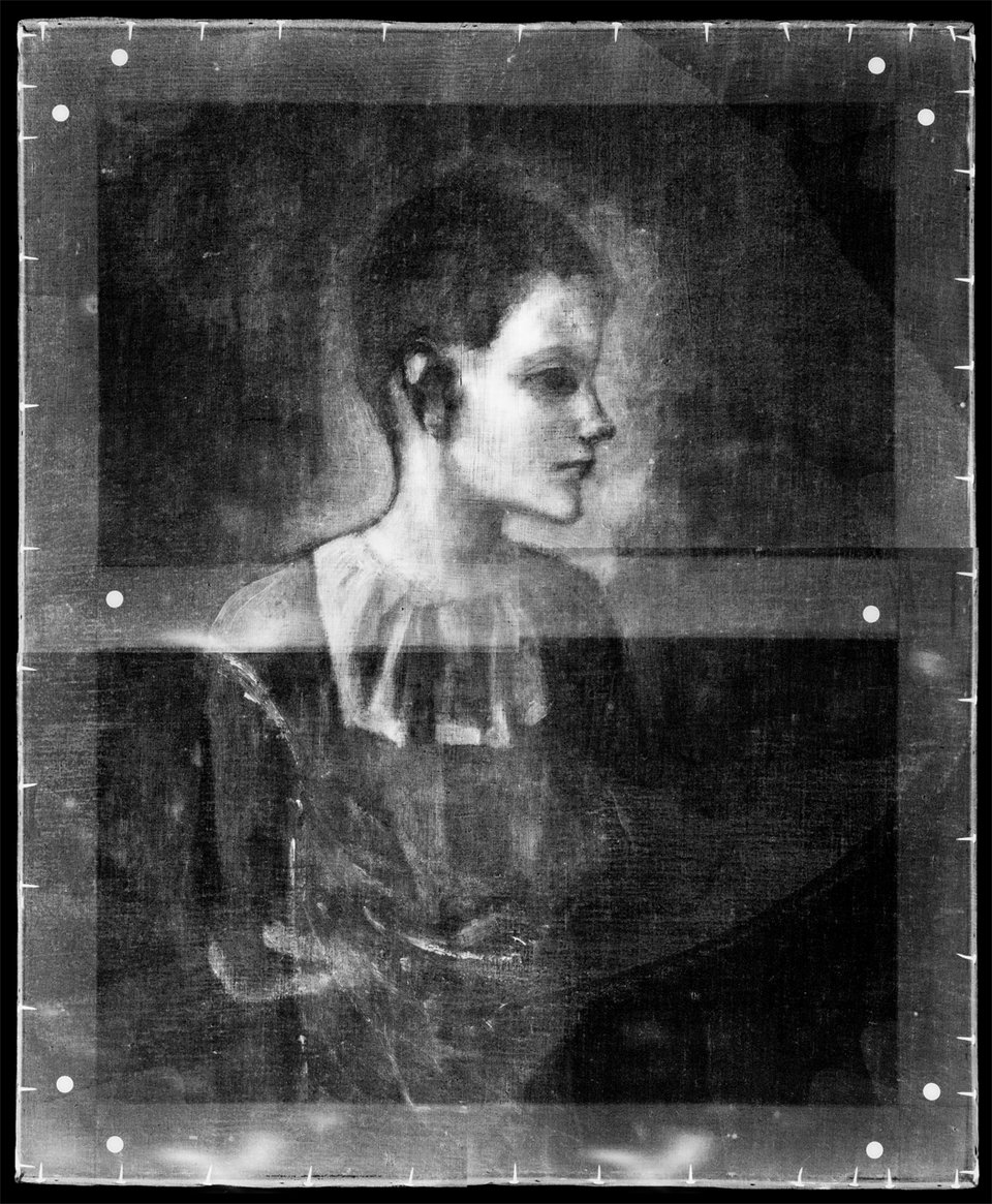 Digital X-radiograph of Girl in a Chemise 1905
