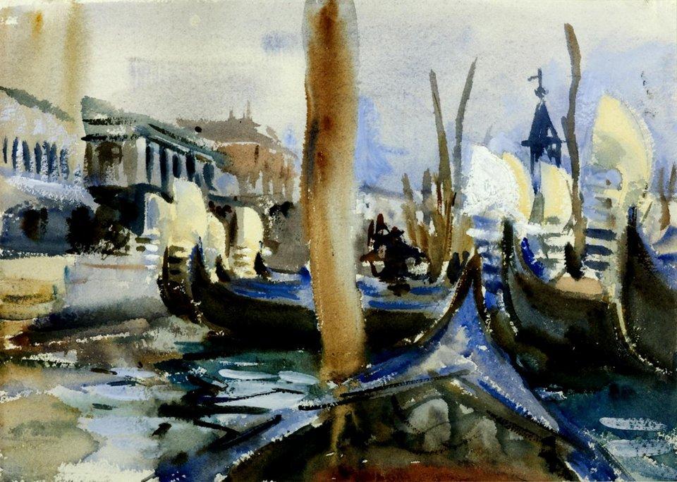 John Singer Sargent, Riva Degli Schiavoni, Venice c.1904