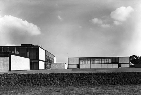 Hunstanton School in Norfolk, completed in 1954, designed by Alison and Peter Smithson